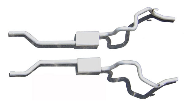 Pypes Exhaust (SGF31R) Pypes Camaro 1970-81 Crossmember-back Systems 2.5'' Rear-Exit RacePro