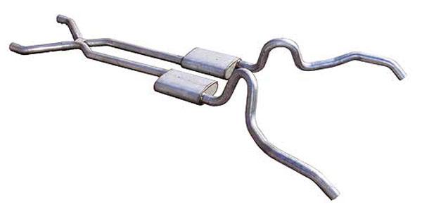 "Pypes Exhaust SGN10V | Pypes Nova 2.5"" Crossmember-back System w/ X-pipe Violator; 1962-1967"