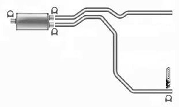 Pypes Exhaust SGT22V | Pypes GM 1500 Series System w/ Violator Muffler; 3500; 1999-2006