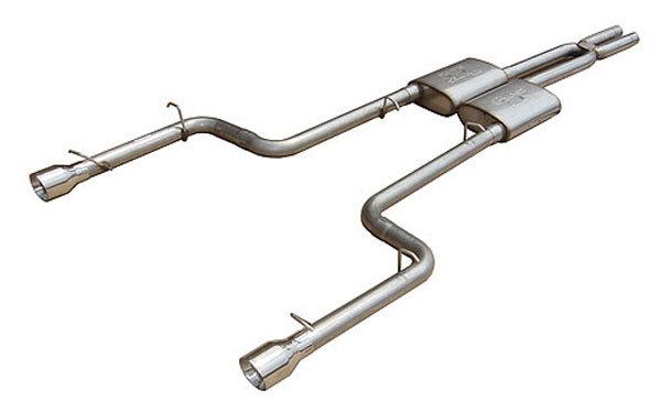 Pypes Exhaust SMC12R | Pypes 2.5 Charger V6 Cat-back System w/ RacePro Mufflers; 2005-2010