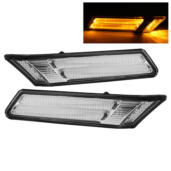 xTune SML-ON-P99705-AMLED-C |  Porsche 911 997 Amber LED Bumper Lights - Chrome; 2005-2007