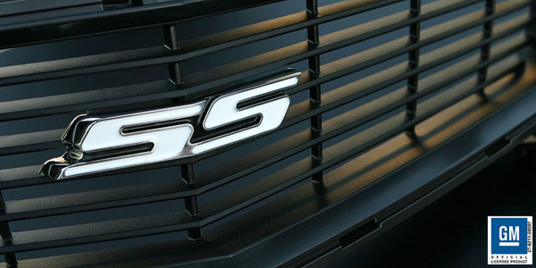 Sparks Restorations SR-HGEPW | 2010 & Up Chevy Camaro Heritage Grille Emblem Polished w/White By Sparks USA