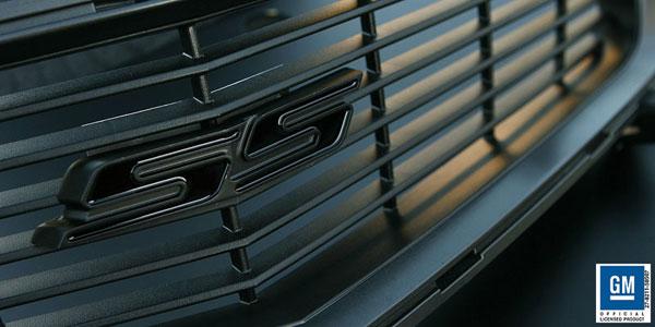 Sparks Restorations SR-HGESBGB | & Up Chevy Camaro Heritage Grille Emblem Satin Black w/Gloss Black By Sparks USA; 2010-2012