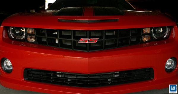 Sparks Restorations SR-STKGEPR | 2010 & Up Chevy Camaro Stock Grille Emblem Polished w/Red By Sparks USA
