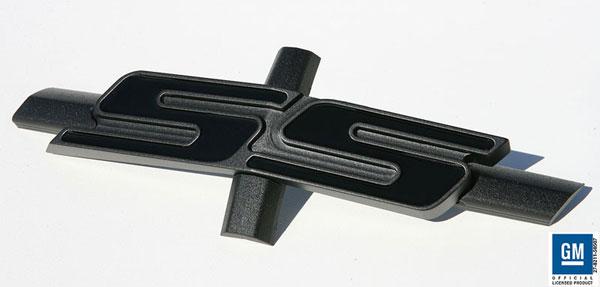 Sparks Restorations SR-STKGESBGB | & Up Chevy Camaro Stock Grille Emblem Satin Black w/Gloss Black By Sparks USA; 2010-2012