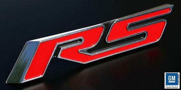 Sparks Restorations SR-TERSPR   & Up Chevy Camaro Trunk Emblem RS, Polished / Red By Sparks USA; 2010-2012