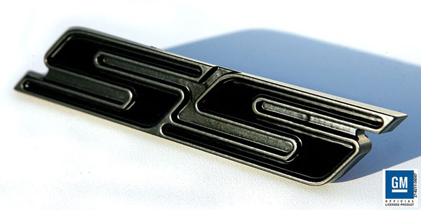 Sparks Restorations SR-TESBGB | & Up Chevy Camaro Trunk Emblem SS Satin Black / Gloss Black By Sparks USA; 2010-2012
