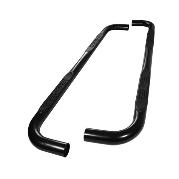 xTune SSB-FF-A07S0523T-BK:  Ford F150 SuperCrew Cab 09-12 - 3 Inch Round Side Step Bar - Powder Coated - Black