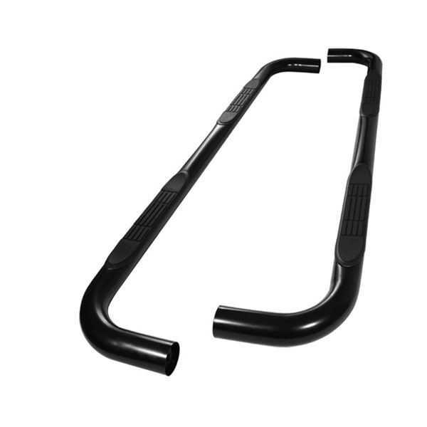 xTune SSB-FF-A07S0525-BK:  Ford F-Series Pick-up Crew Cab 87-97 - 3 Inch Round Side Step Bar - Powder Coated - Black