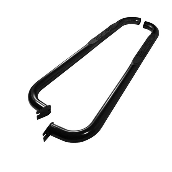 xTune SSB-NF-A07S1232-BK |  Nissan Frontier Regular Cab - 3 Inch Round Side Step Bar - Powder Coated - Black; 1998-2004