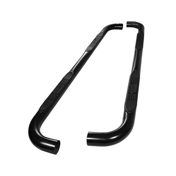 xTune SSB-TH-A07S1020-BK |  Toyota Highlander ( Gas & Hybrid ) - 3 Inch Round Side Step Bar - Powder Coated - Black; 2008-2012