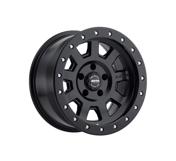 SOTA Offroad 320SB-17854-32 | SOTA S.S.D. 17x8.5 5x4.5 -32mm Stealth Black (Satin Black) Wheel; 1950-2018