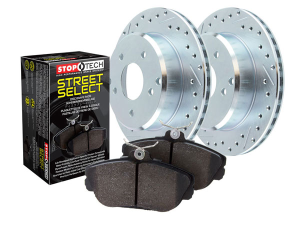 Front And Rear Drilled Slotted Brake Discs Rotors Kit For Ford Crown Vic Mercury
