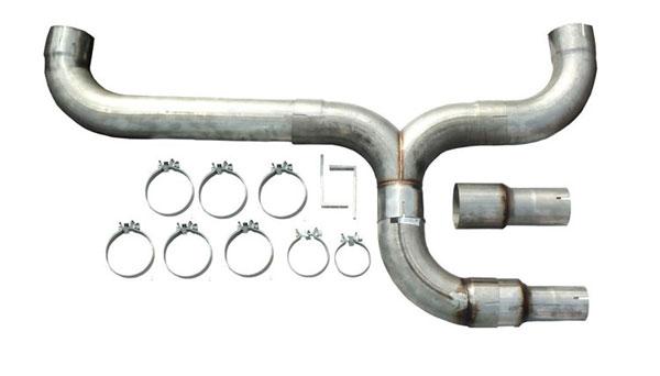 Pypes Exhaust STD005 | Pypes Dual Outlet Diesel Truck Stack Kit (Universal); 1950-2012