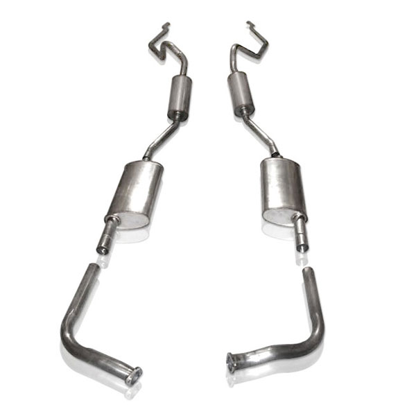 Stainless Works T5710400S:  Ford Thunderbird 1957 Exhaust 4pc w/Resonators
