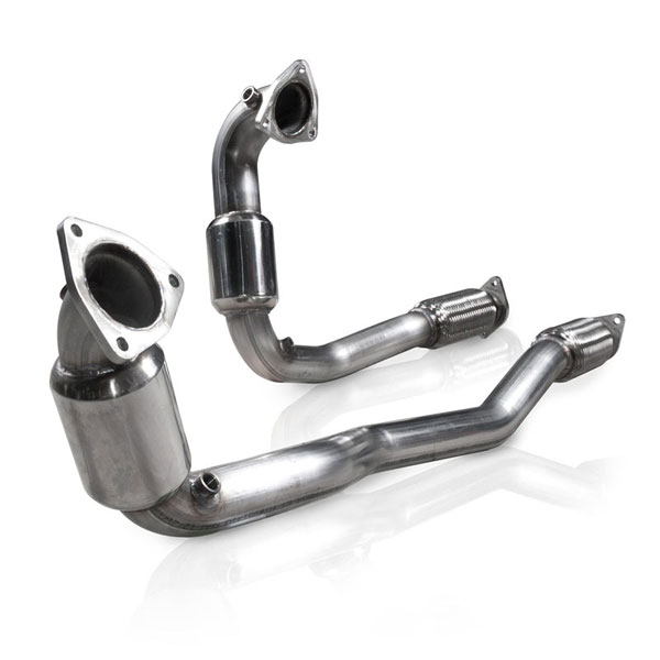 Stainless Works TA10ECODPCAT:  2010-15 Ford Taurus SHO Downpipe ( Catted )