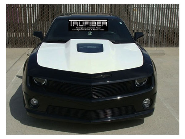 Trufiber TF30022-A62:  Cowl hood Camaro 2010-11, 2.5 inch Extreme Cowl Hood w/ See Through Glass