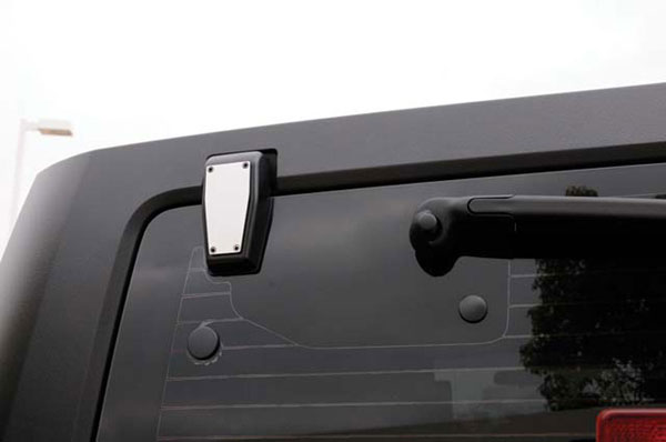 T-Rex 10483 |  Jeep Wrangler - T1 Series Stainless Rear Window Hinge Kit - Hard Top Wrangler - 2 Pc; 2007-2012