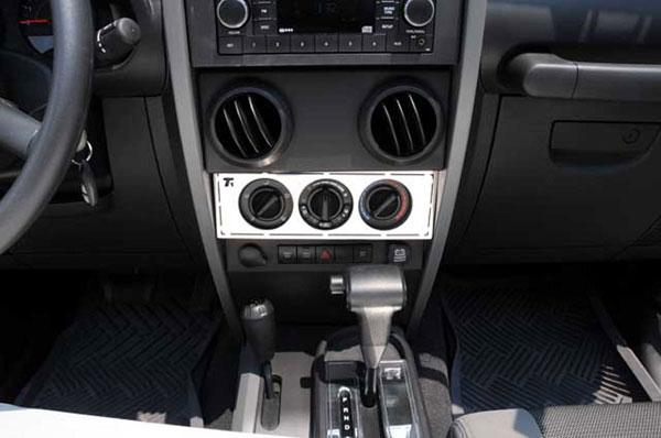 T-Rex 10488 |  Jeep Wrangler - T1 Series Interior Dash Trim - Climate Control Panel; 2007-2013