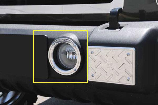 T-Rex 11486 |  Jeep Wrangler w/ Fog Lights - T1 Series Fog Light Rings - 2 Pc; 2007-2013
