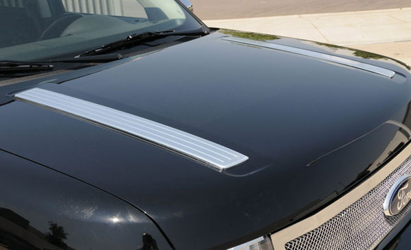 T-Rex 11523 |  Ford Flex - T1 Series Hood Accents - Billet Chrome Plated - 2 Pc; 2009-2012