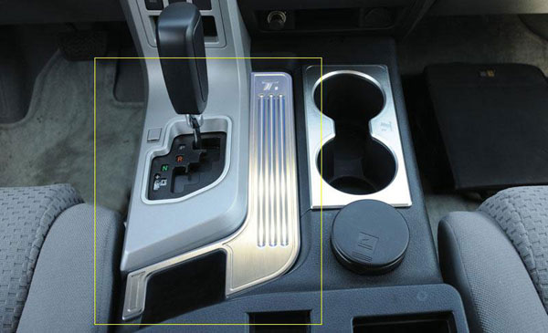 T-Rex (11959)  Toyota Tundra 2007 - 2009 T1 Series Billet Interior Center Console Trim - Brushed