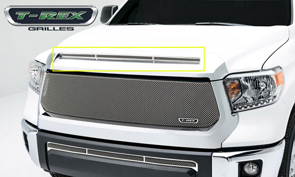 T-Rex 11964:  Toyota Tundra 2014 - T1 Series Grille, Hood, Overlay, 1 Pc, Polished Stainless Steel
