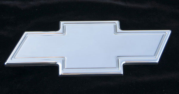 T-Rex 19055:  Chevrolet Avalanche 2007 - 2013 Billet Bowtie - Rear - w/Border - Polished (10.25'' length)