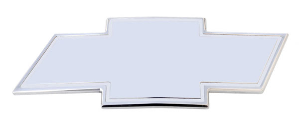 T-Rex 19080:  Chevrolet Silverado HD 2001 - 2002 Billet Bowtie - w/Border - Polished