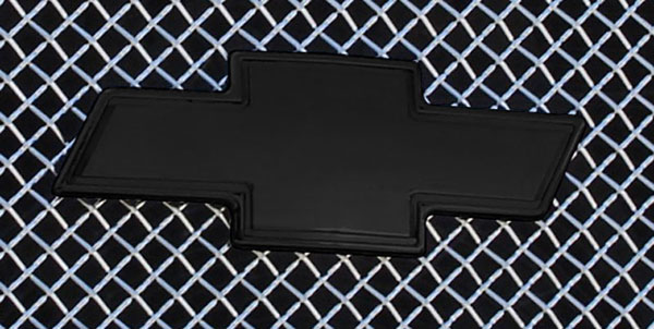 T-Rex 19100B |  Chevrolet Silverado (All Models Except HD) - Billet Bowtie - w/Border - All Black; 2003-2006