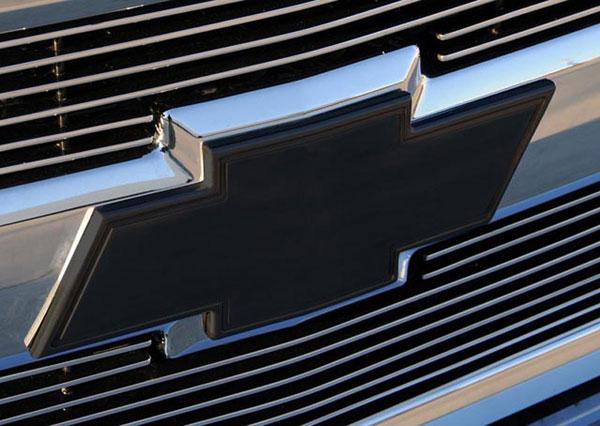 T-Rex 19110B |  Chevrolet Silverado 1500 & 07-10 HD 2007 - 2013 Billet Bowtie - w/Border - All Black