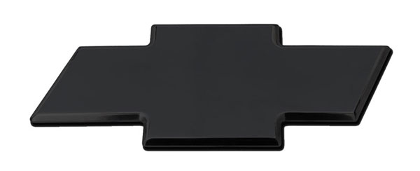 T-Rex 19112B |  Chevrolet Silverado 1500 & HD - Billet Bowtie - Rear - Plain - All Black; 2007-2013