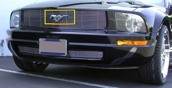 T-Rex 19515:  Ford Mustang 2005 - 2009 Billet OE Logo Mounting Plate (For Remounting Factory Logo on Billet Grille)