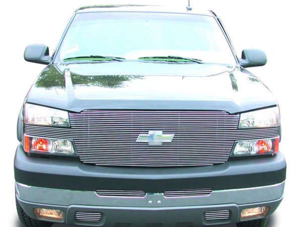 T-Rex (20102)  Chevrolet Silverado (All Models Except 05 HD) 2003 - 2005 ''Full Face'' Billet - w/ Billet Bowtie Installed