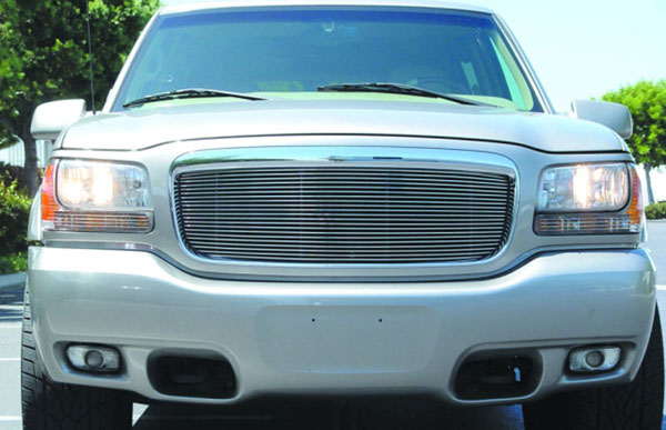 T-Rex 20180 |  Cadillac Escalade 1999 - 2000 Billet Grille Insert (21 Bars) - Re-use OE Cadillac Logo