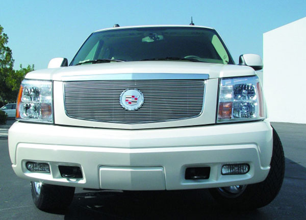 T-Rex 20182:  Cadillac Escalade, EXT, ESV 2002 - 2006 Billet Grille Insert - w/Center Billet Logo Plate (27 Bars)