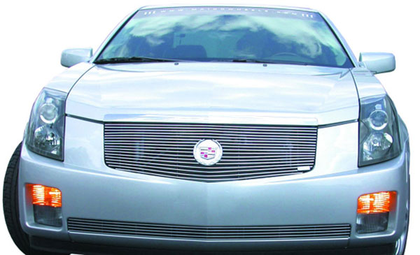 T-Rex 20190:  Cadillac CTS 2003 - 2007 Billet Grille Insert - w/Center Billet Logo Plate (17 Bars)