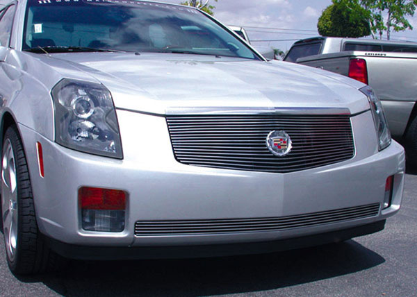 T-Rex 20191:  Cadillac CTS 2003 - 2007 Billet Grille Insert - w/o Center Logo Plate - OE Logo Mounts on Billet (17 Bars)