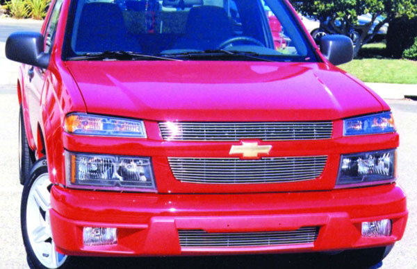 T-Rex 20265:  Chevrolet Colorado (Except Extreme) 2004 - 2012 Billet Grille Overlay/Bolt On & Insert (7,10 Bars) (Except Extreme)