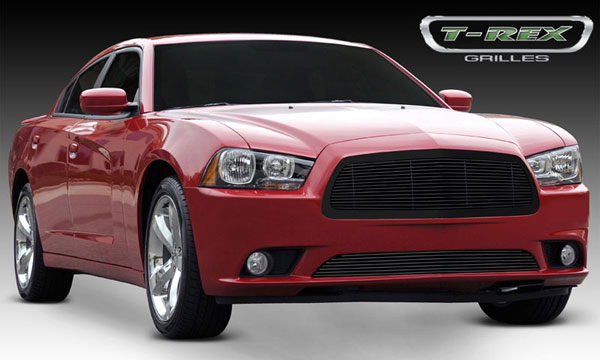 T-Rex 20442B:  Dodge Charger 2011 - 2013 Billet Grille - 1 Pc with Frame - Replaces OE Grille - All Black