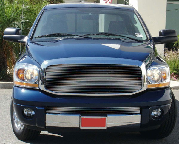 T-Rex 20468:  Dodge Ram PU 2006 - 2008 Billet Grille Insert - Custom 1 Pc Full Opening (Requires Cutting center Bars)