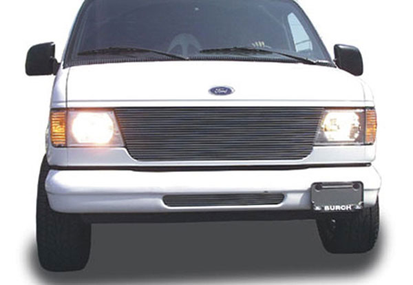 T-Rex 20500:  Ford Econoline Van 1992 - 2007 Billet Grille Insert - Replaces Factory Grille Shell (22 Bars)