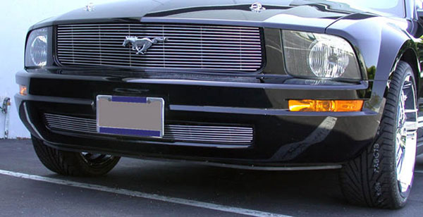 T-Rex 20515:  Ford Mustang LX Models (Without Pony Package) 2005 - 2009 Billet Grille Insert - 1 Pc - LX Models - No Fog Lamp In Grille (15 Bars)