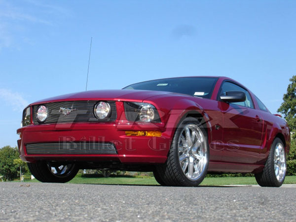 T-Rex (20516)  Ford Mustang GT Models 2005 - 2009 Billet Grille Insert - 3 Pc - GT Models w/Fog Lamps In Grille) (15 Bars)