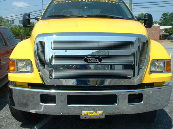 T-Rex 20541:  Ford F650 2004 - 2009 Billet Grille Insert - 6 Pc (6, 6, 6, 6, 25, 25 Bars)
