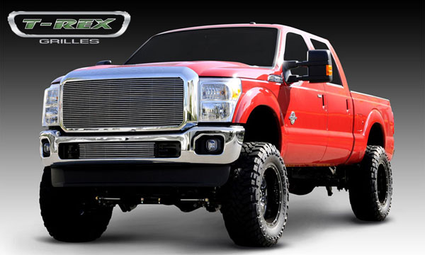 T-Rex 20546:  Ford Super Duty 2011 - 2012 Billet Grille Insert - 1 Pc - W/ Optional Logo Plate
