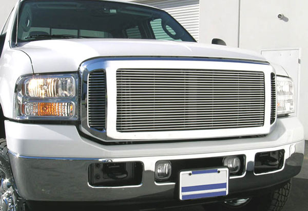T-Rex 20561:  Ford Super Duty, Excursion (Except Harley Trucks) 2005 - 2007 Billet Grille Insert (Requires Cutting center and side sections - 3 PC Look )