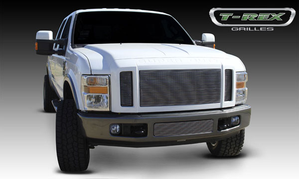 T-Rex 20563:  Ford Super Duty (All Models) 2008 - 2010 Billet Grille Insert - 3 Pc