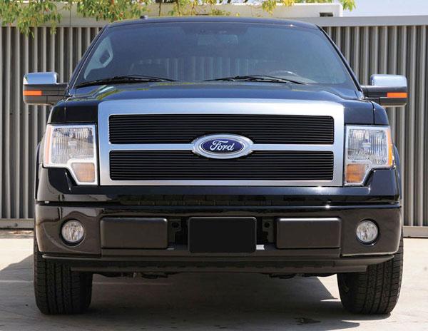 T-Rex 20567B |  Ford F-150 Platinum - Billet Grille - 2 Pc (Req. cutting factory grille center) - All Black; 2009-2012