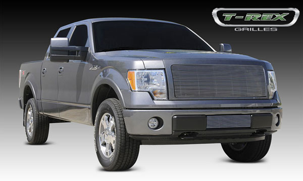 T-Rex 20568:  Ford F-150 2009 - 2012 Billet Grille - 1 Pc (Req. cutting factory grille center)